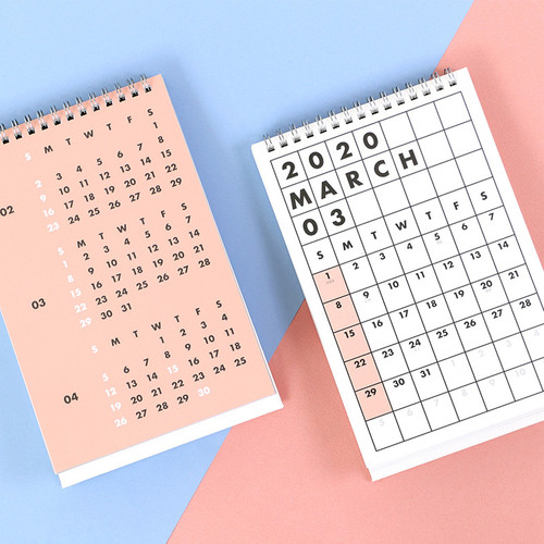 PAPERIAN 2020 Colorful plan standing desk calendar