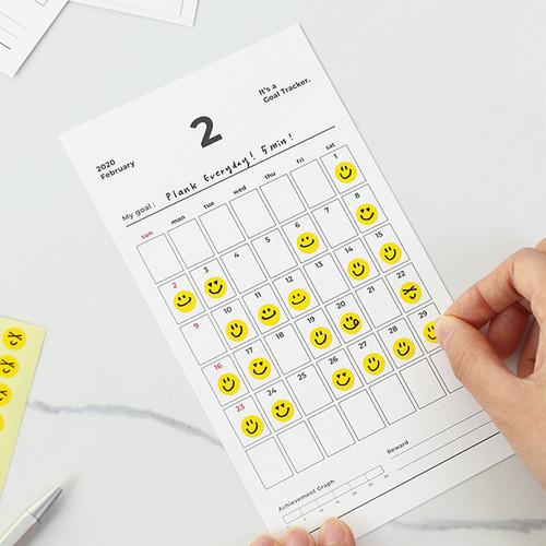 PAPERIAN 2020 Goal tracker checklist calendar sheets