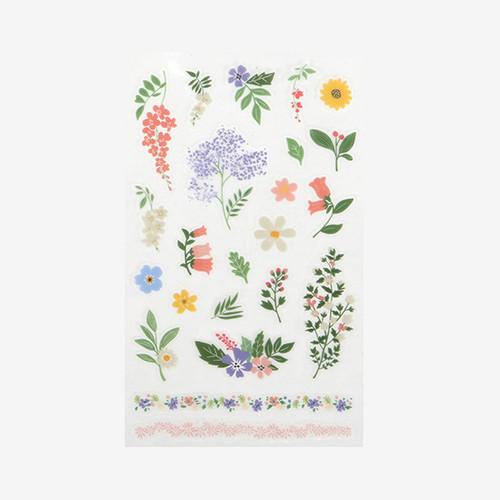 Dailylike Daily transparent deco cute sticker - Flower 2
