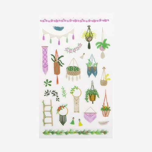 Dailylike Daily transparent deco cute sticker - Macrame