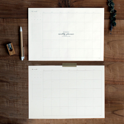 DBD Moment dateless monthly desk planner scheduler pad