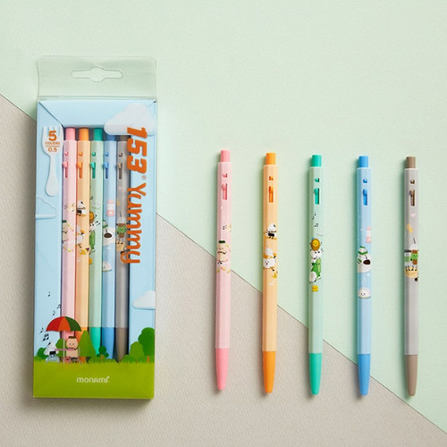 MONAMI 153 yummy knock retractable ballpoint pen set