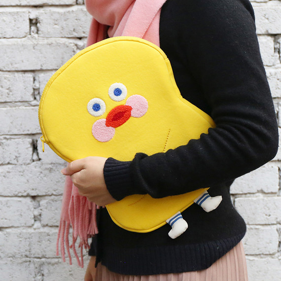 ROMANE Yellow duck tablet PC iPad 11inches zip pouch