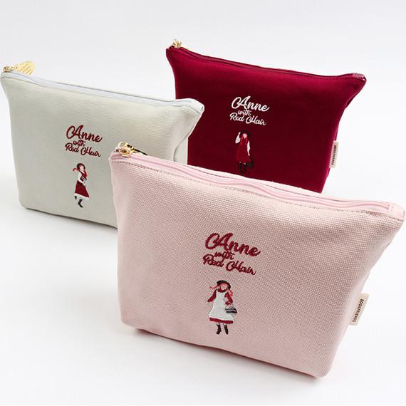 Bookfriends Anne of green gables cotton zipper pouch