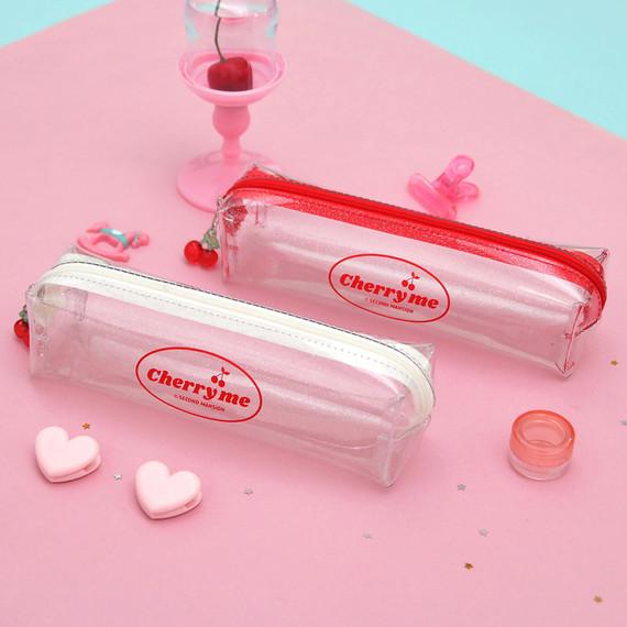 Second Mansion Cherry me twinkle PVC zip pencil case