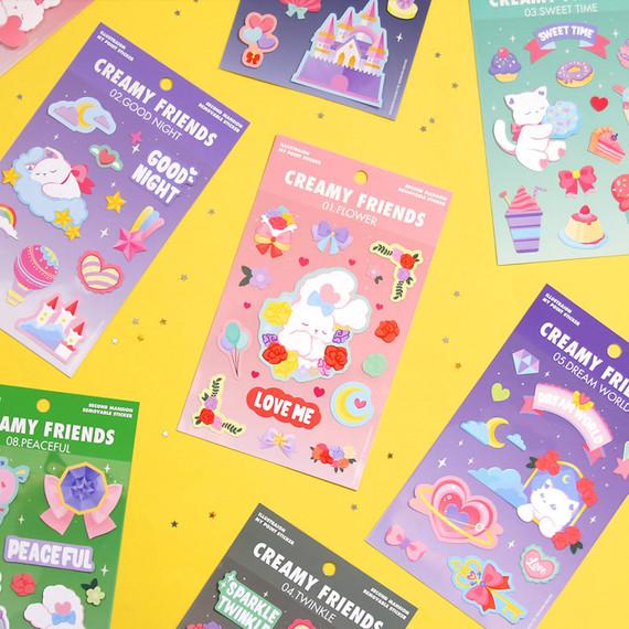 Second Mansion Creamy friends deco point sticker