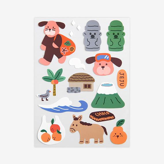 Dailylike Jeju removable paper deco sticker