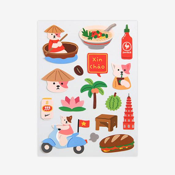 Dailylike Vietnam removable paper deco sticker