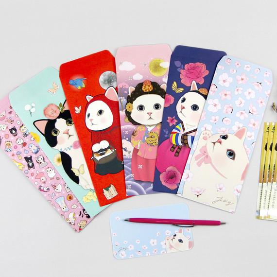 Jetoy choo choo cat gift envelope and memo notes set