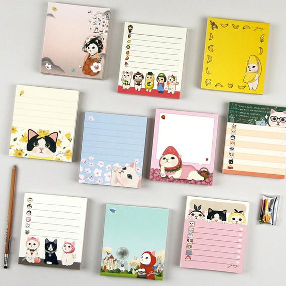 Jetoy choo choo cat memo notes writing pad ver2
