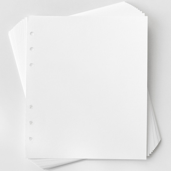 2NUL Basic 6-ring wide A6 blank note paper refill