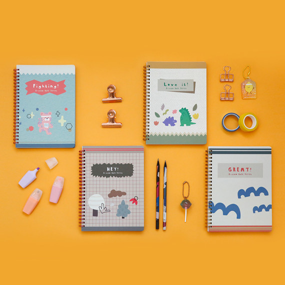Oh-ssumthing O-ssum spiral lined grid blank notebook