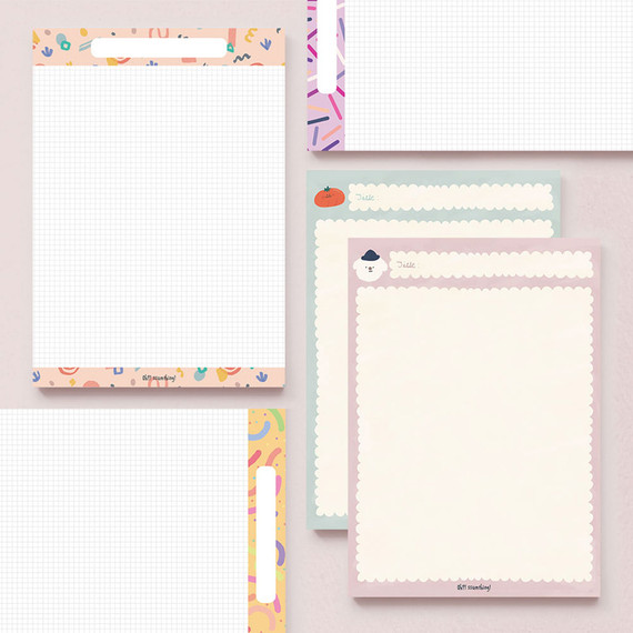 O-ssum A5 size grid and blank notes memo notepad