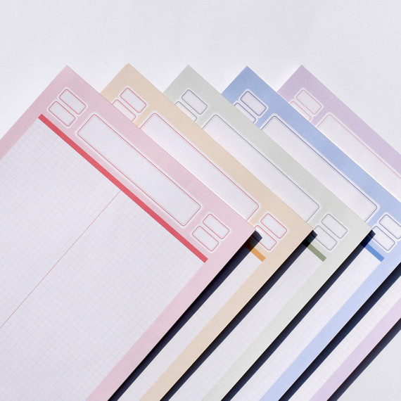 After The Rain Label B5 size grid notes memo notepad