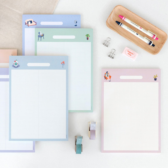 ICONIC Haru B5 size grid notes memo notepad