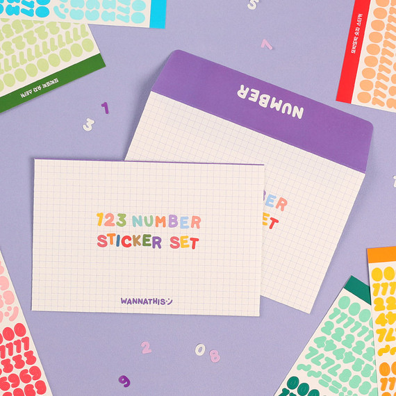 Wanna This Number craft decoration sticker 10 colors set