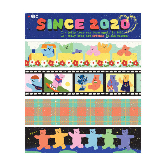 Dailylike Jelly bear retro masking seal sticker set