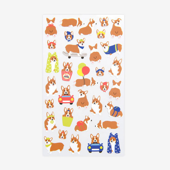 For your heart paper adhesive sticker - Welsh Corgi