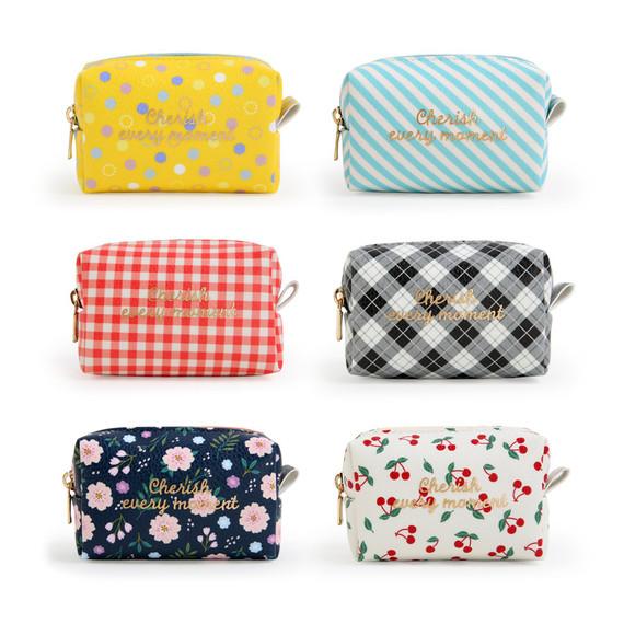 Monopoly Cherish every moment small PU zipper pouch case