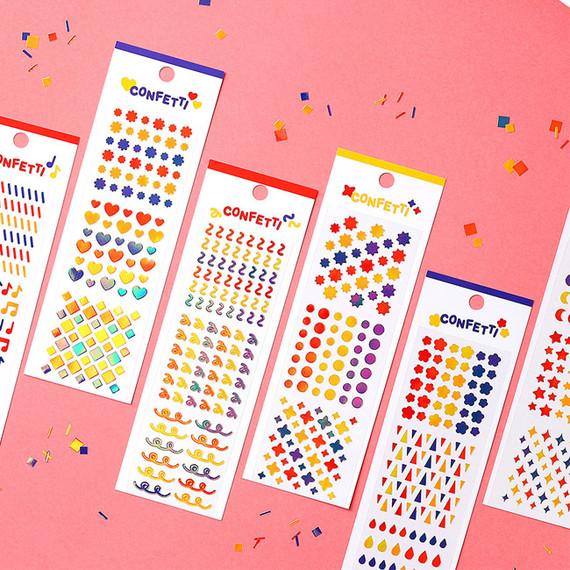 Wanna This Confetti aurora pearl mini deco sticker 01