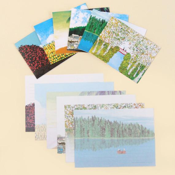 DESIGN GOMGOM Colorful medium letter and envelope set