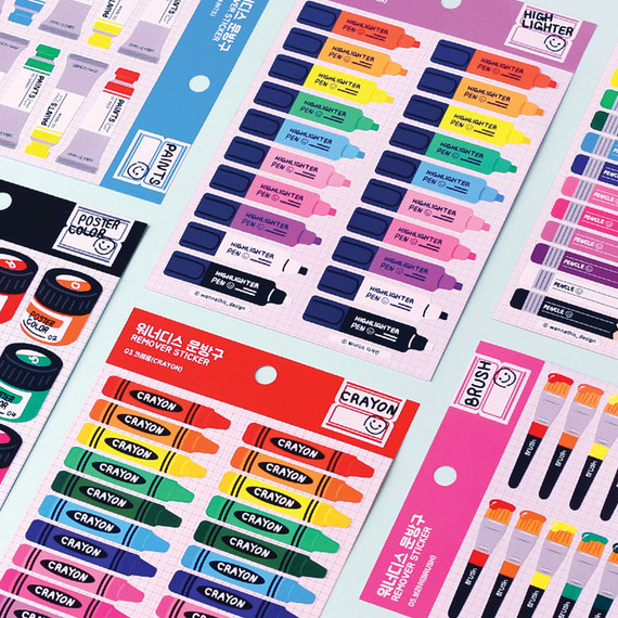Wanna This Stationery store removable sticker 01-06