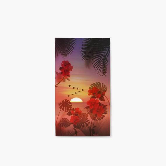 Appree Tropical sunset nature scene sticker set
