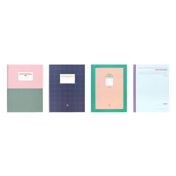 Indigo Prism 56 spiral bound B5 grid notebook