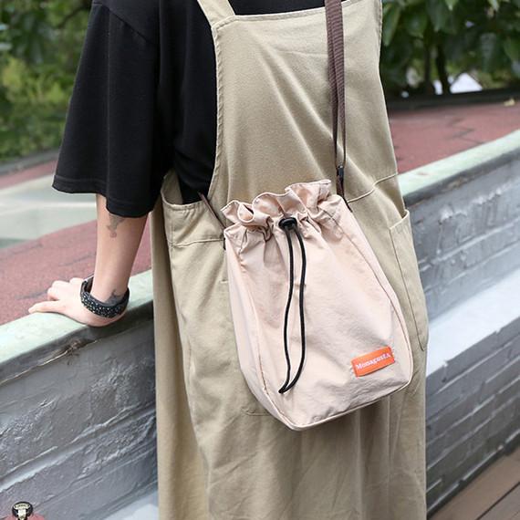 MELOCOTON - ROMANE MonagustA nylon drawstring crossbody bag