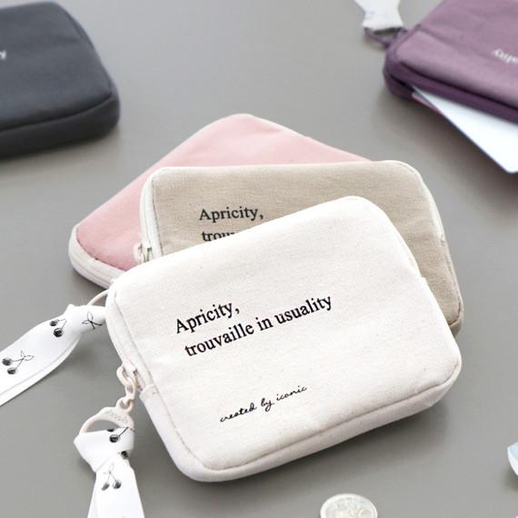 ICONIC Cottony flat zipper card holder case