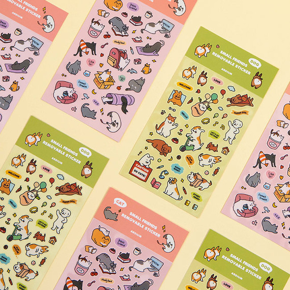 Ardium Cat and Dog small friends removable sticker
