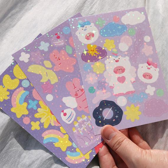 DESIGN GOMGOM Reeli removable glitter sticker