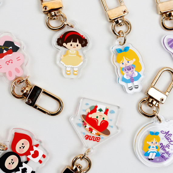 Bookfriends Alice and Anne acrylic keyring