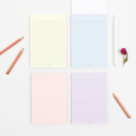 Bookfriends Colored A6 memo writing pads
