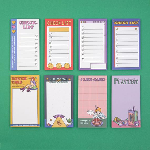 Ardium Color point checklist blank memo notepad ver2