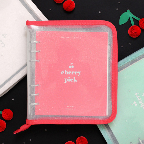 2NUL Cherry pick wide A6 zipper 6-ring undated weekly diary