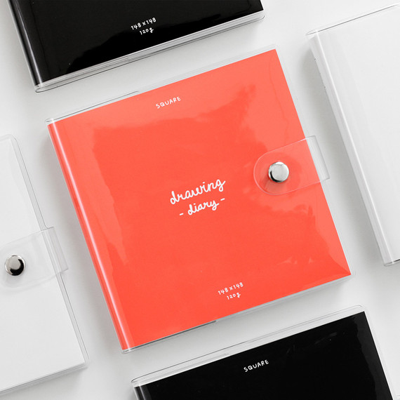 2NUL Square drawing dateless weekly diary planner