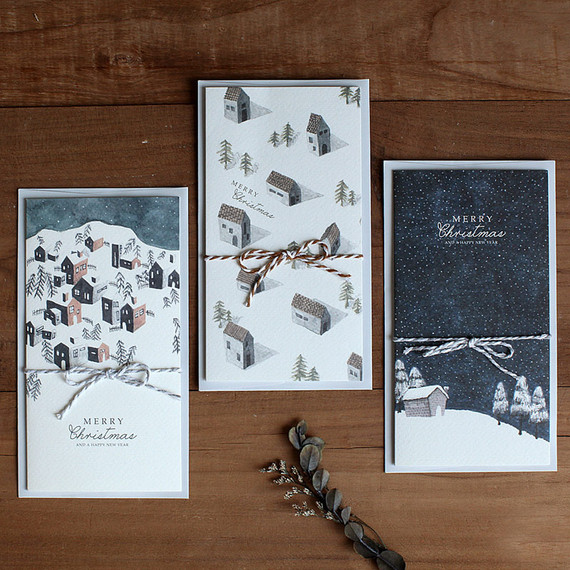 DBD House Christmas card with envelope