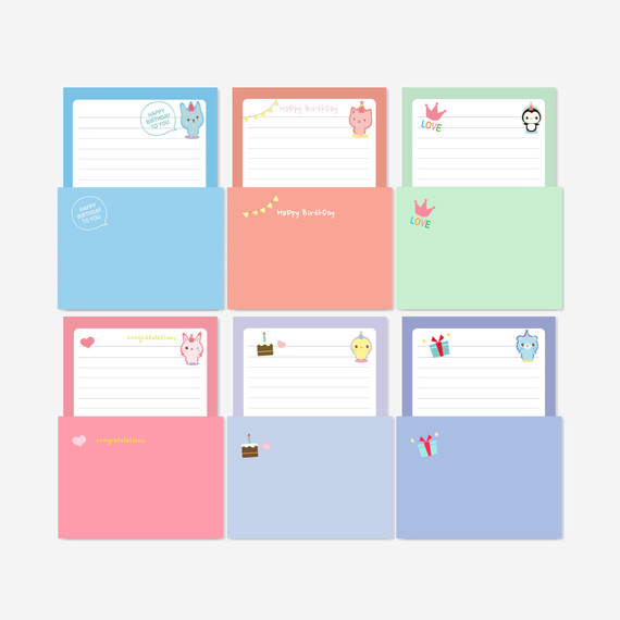 2young Cute animal letter paper and envelope set