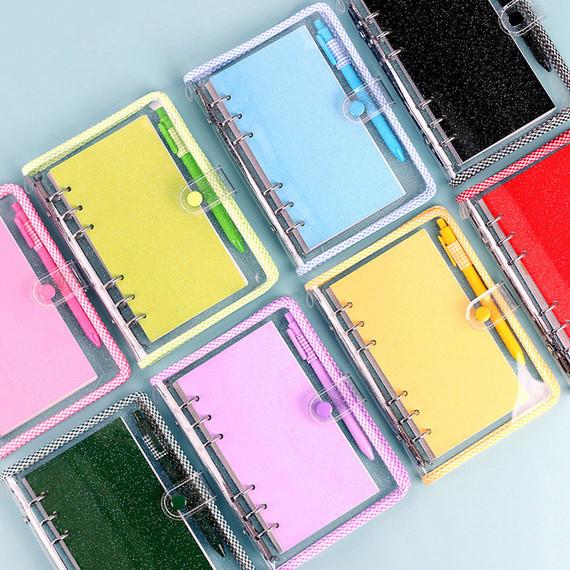Wanna This Picnic check A6 6-ring PVC binder