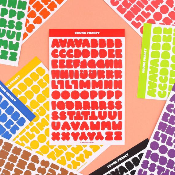 Wanna This Ddung phabet basic Alphabet letter sticker