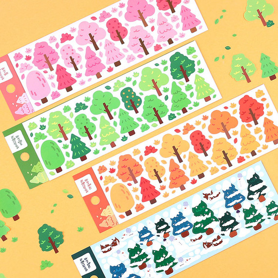 Wanna This Forest's tree paper sticker