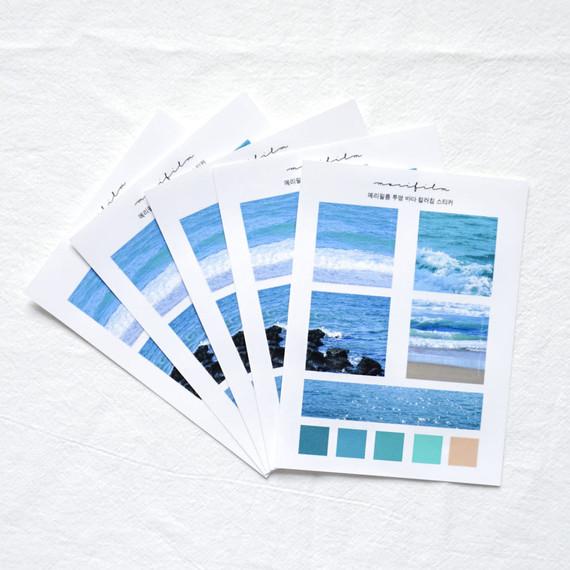 Meri Film Ocean color chips translucent sticker set