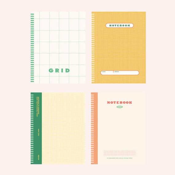 Indigo Basic B5 wire binding grid notebook