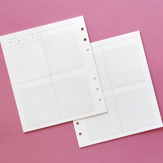 Jam Studio Weekly planner wide A6 6 ring paper refill set