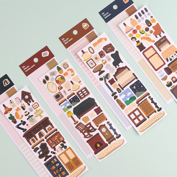 Wanna This Classic interior removable paper sticker seal