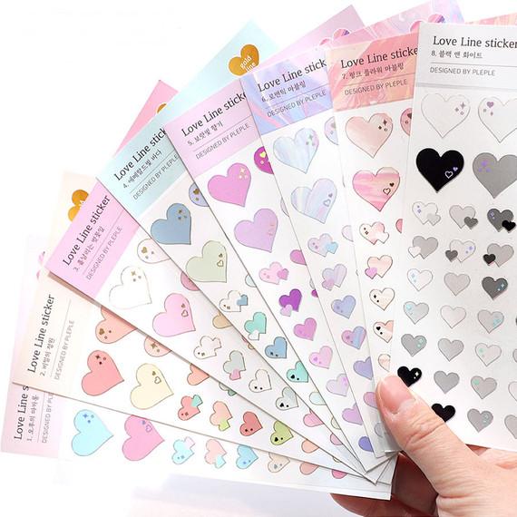 PLEPLE Love line clear deco sticker seal
