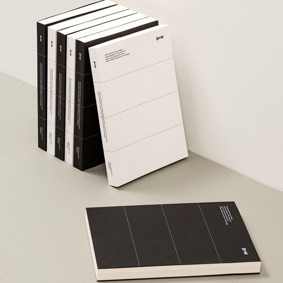 Ardium B+W premium 256 pages lined notebook