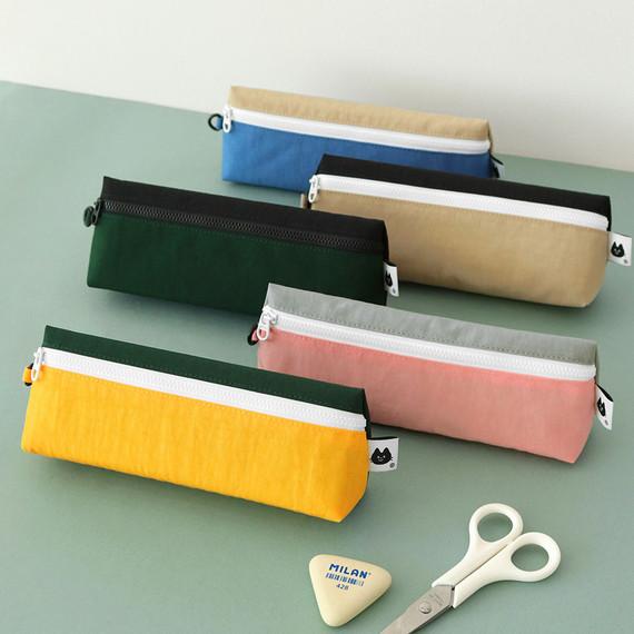 Indigo Mungunyang triangle zipper pencil case pouch