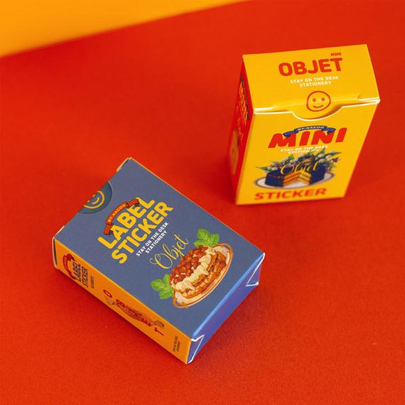 Vintage object label and mini sticker set